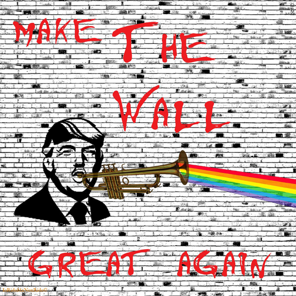 MAKE THE WALL GREAT AGAIN e Donald Trump