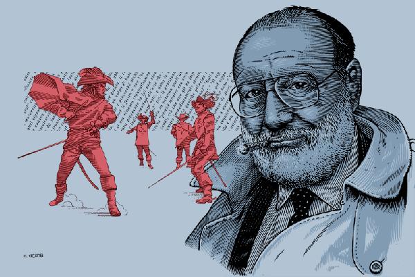 Umberto Eco per Link di Marcello Crescenzi aka Rise Above