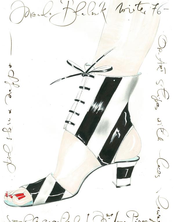 Manolo Blahnik Sketches Lolaglam