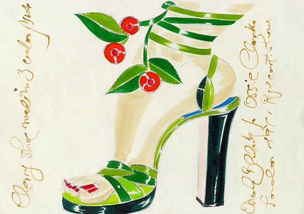 1971, IVY for Ossie Clark – Manolo Blahnik ©