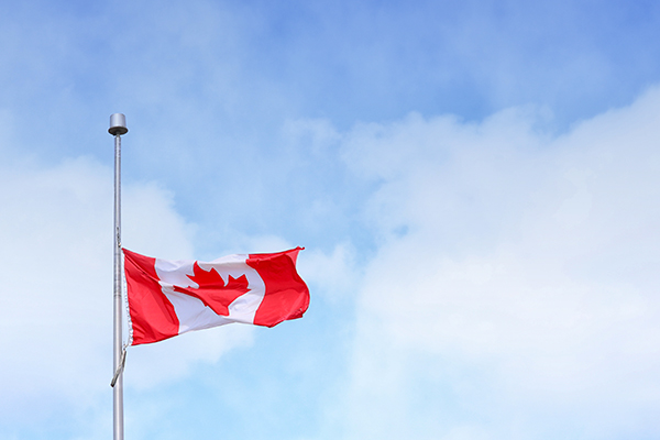 Canada's Flag: Photo by Jonathan Denney on Unsplash.