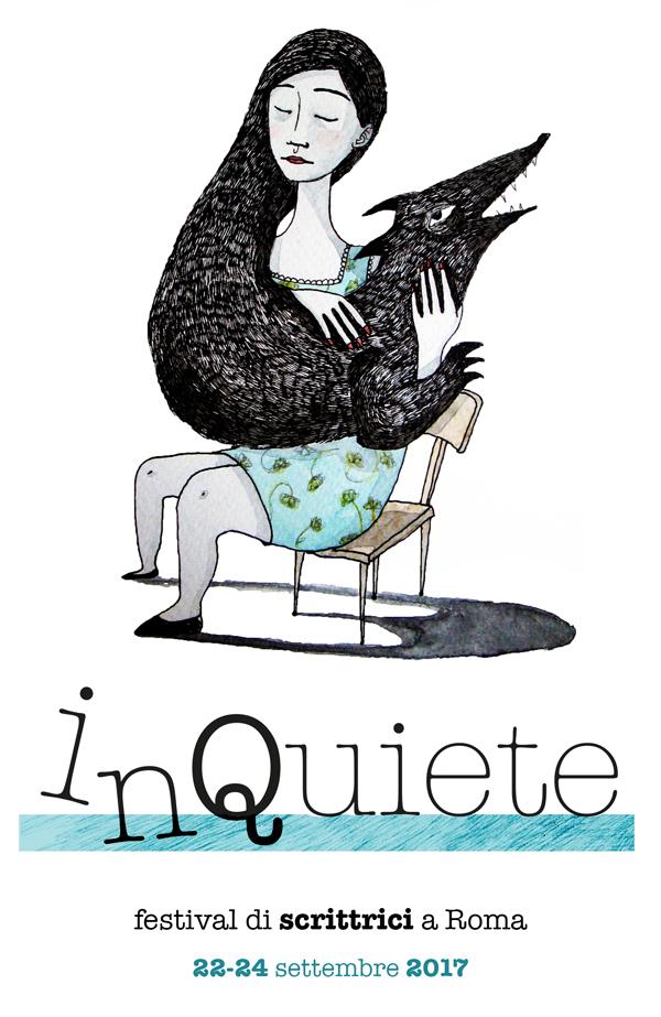 Logo InQuiete Festival illustrazione e payoff
