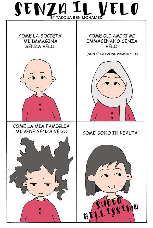 """Intercultural Comics: """"Senza il velo"""" di Takoua Ben Mohamed"""