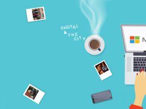 """Cover della rubrica """"Digital & the City"""" di Sabina Belli"""