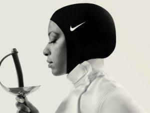 Nike athlete and champion fencer Ibtihaj Muhammad in the Nike Pro Hijab