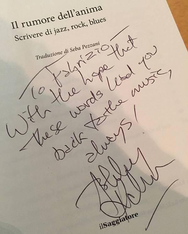 """The book """"Il rumore dell'anima, scrivere di jazz, rock, blues"""" by Ashley Kahn"""