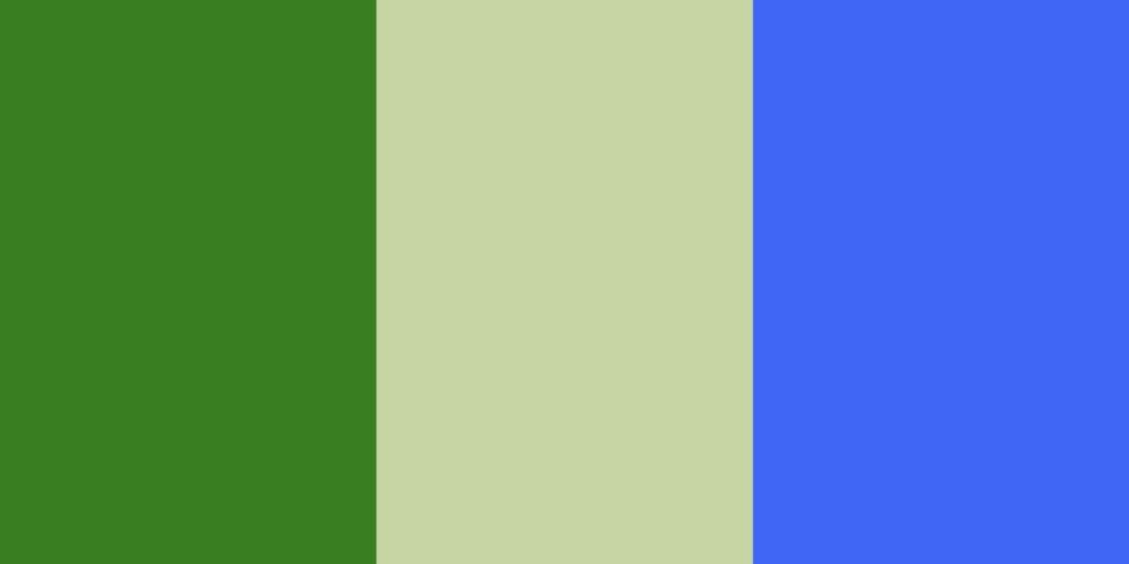 tabella colori verde verde-bianco blu