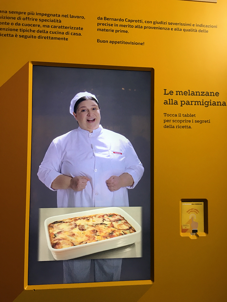 ricetta melanzane alla parmigiana SuperMostra Esselunga al The Mall Milano