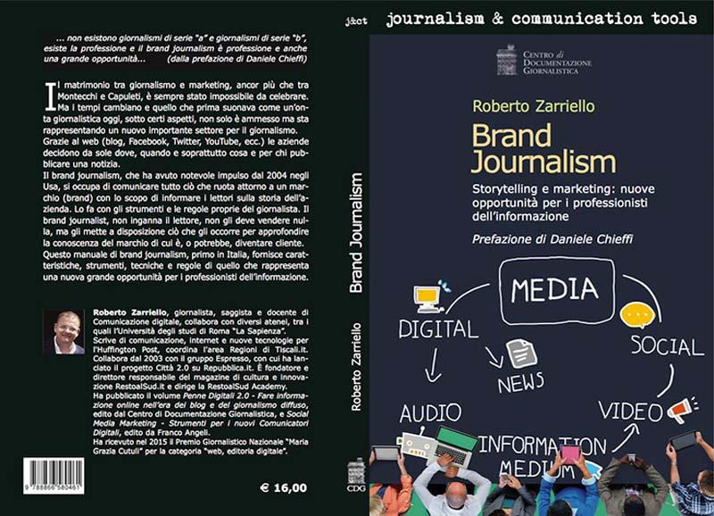 copertina di Brand Journalism autore Roberto Zarriello