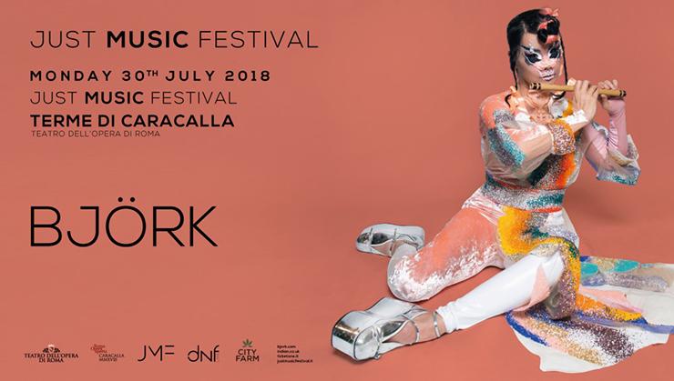 locandina concerto Björk a Roma