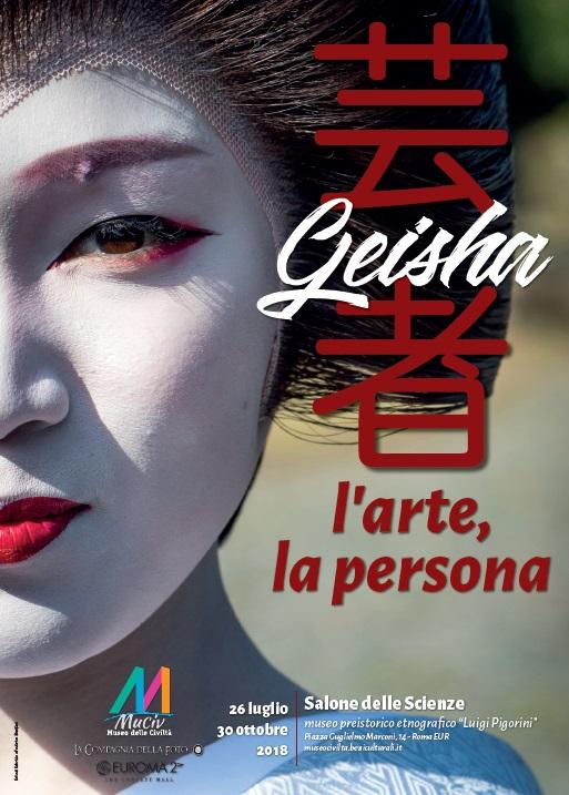 """locandina mostra al Museo Pigorini """"Geisha – l'arte e la persona"""" a cura di Loretta Paderni"""
