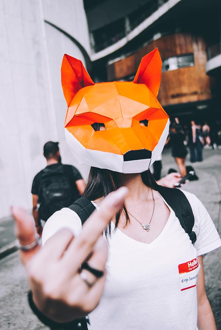 maschera da volpe Photo by Natã Figueiredo on Unsplash