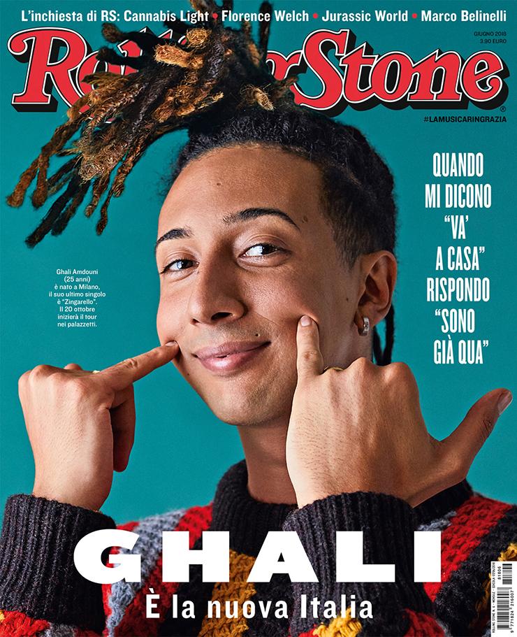Ghali giugno 2018 copertina di Rolling Stone Italia