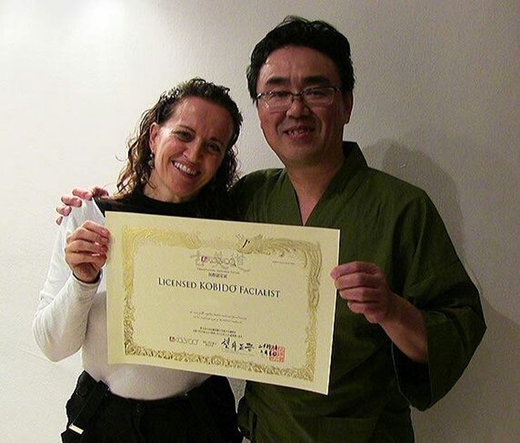 Simona Primavera e il Maestro James Shogo Mochizuki