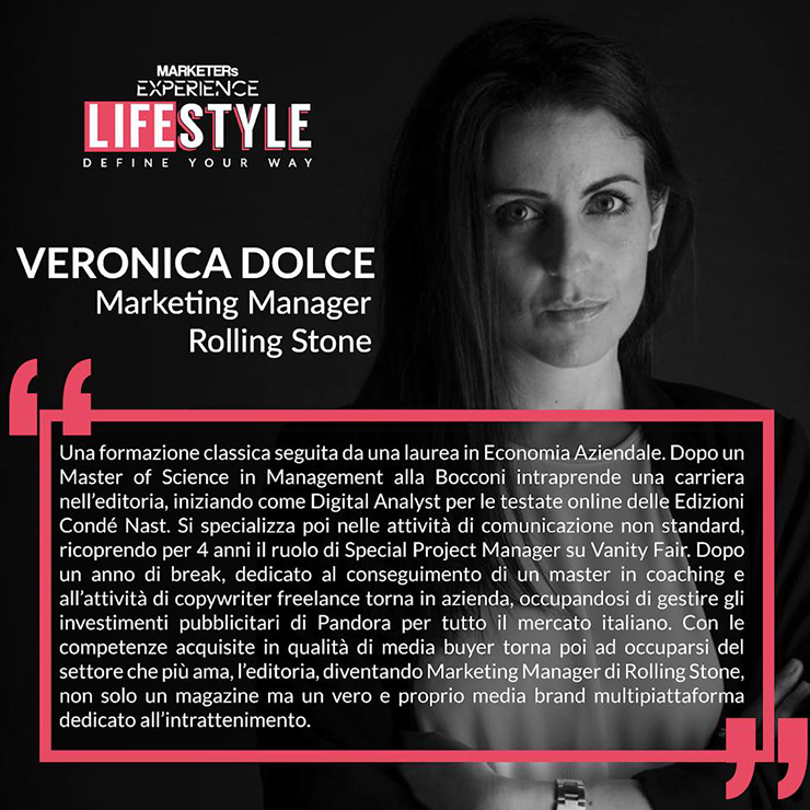 Veronica Dolce Marketing Manager di Rolling Stone Italia