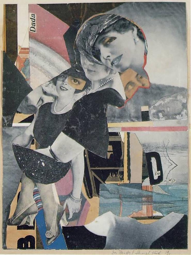 Hannah Hoch, Da Dandy , 1919, Fotomontaggio