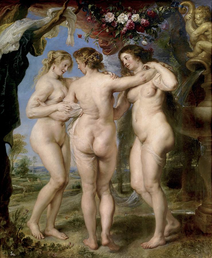 Le tre Grazie, Rubens