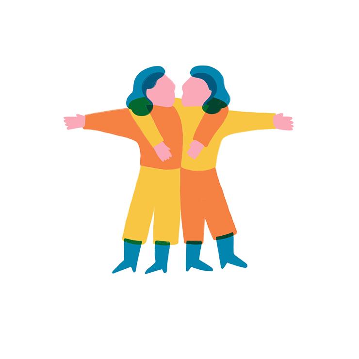 Gemelli Yoga & Oroscopo by Costanza Coletti Illustration