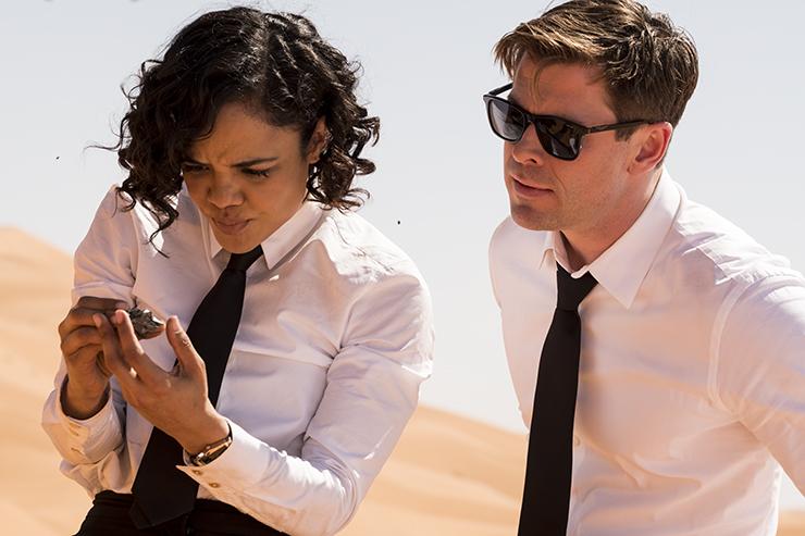Agent M (Tessa Thompson) and Agent H (Chris Hemsworth) in Columbia Pictures' Men In Black: International.
