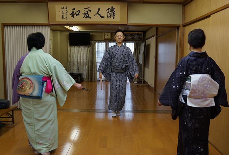 Catia Fucci durante una lezione in Giappone (2019)