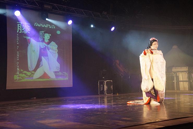 Catia Fucci sul palco