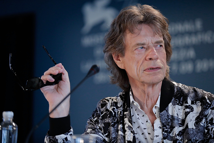 Press Conference The Burnt Orange Heresy, Mick Jagger | Credits La Biennale di Venezia Ph ASAC