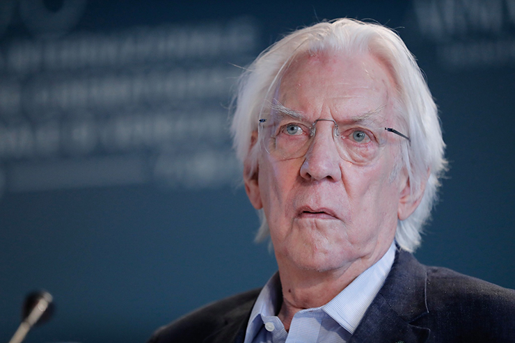 Press Conference The Burnt Orange Heresy, Donald Sutherland | Credits La Biennale di Venezia Ph ASAC