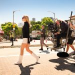 Margot Robbie BTS in Columbia Pictures Once Upon a Time in Hollywood