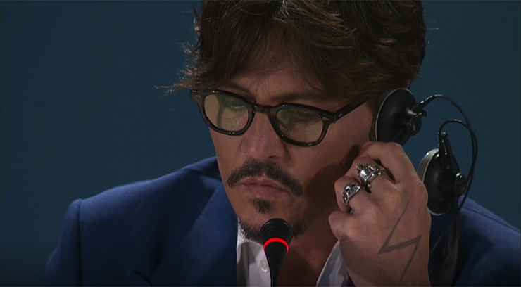 Press Conference WAITING FOR THE BARBARIANS, Johnny Depp | Credits La Biennale di Venezia Ph Just Baked