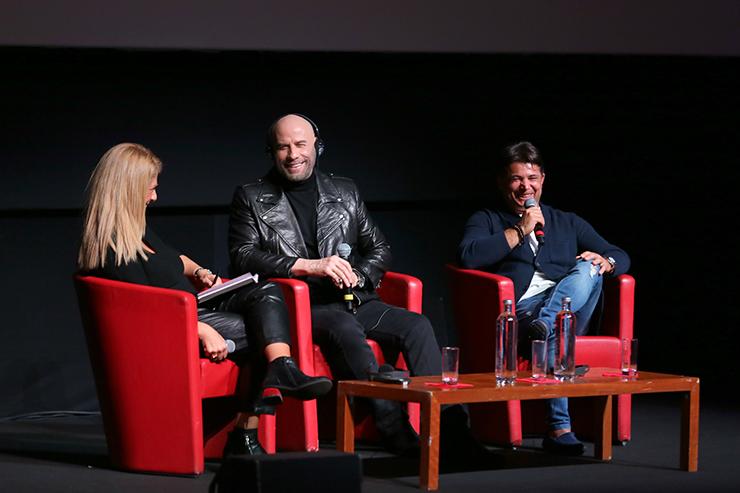 Alessandra De Luca intervista John Travolta e Oscar Generale | Conferenza stampa del 22 Ottobre 2019 alla Festa del Cinema di Roma | Photo by Ernesto S. Ruscio/Getty Images for RFF