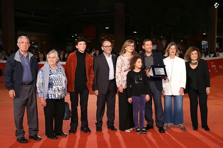 Alessandro Piva e la famiglia di Santa Scorese sul red carpet di #RomaFF14 | Photo by Ernesto S. Ruscio/Getty Images for RFF