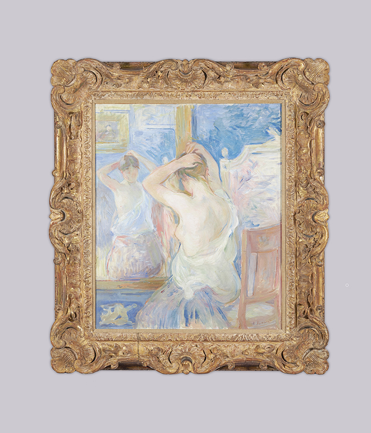 Berthe Morisot, Devant la psyché (1890, olio su tela)