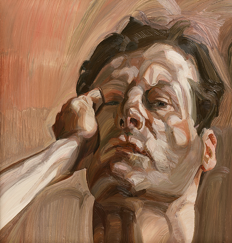 Man's Head (Self Portrait), 1963 - oil on canvas by Freud, Lucian (1922-2011) | Whitworth Art Gallery, The University of Manchester, UK | © The Lucian Freud Archive