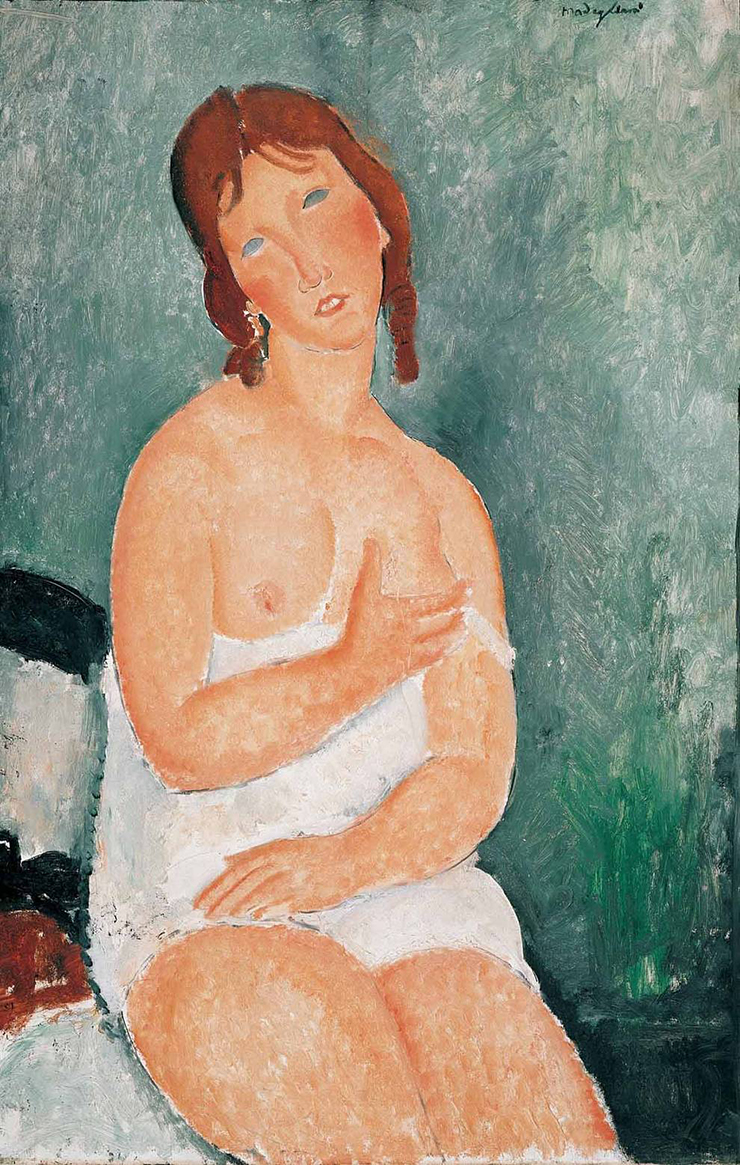 Amedeo Modigliani, Junge Frau im Hemd, 1918 © Albertina, Wien – Sammlung Batliner