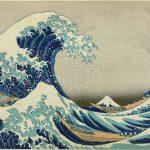 La grande onda di Kanagawa di Katsushika Hokusai (1830-1831 circa), xilografia in stile ukiyo-e