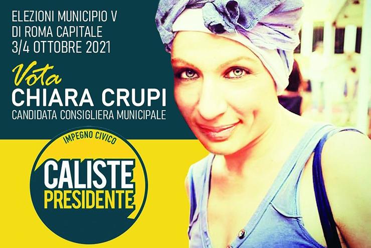 Chiara Crupi, candidata al Municipio V con la lista Civica per Caliste presidente